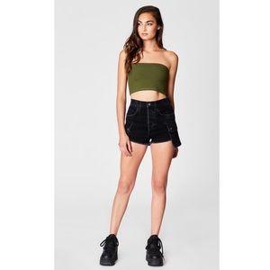 Carmar black Titania cargo side pocket shorts